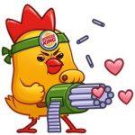 Бесплатные стикеры от Burger King.